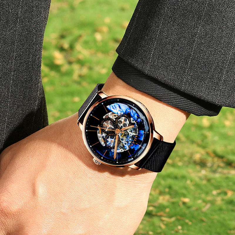 AILANG Top design uhr Minimalistischen tourbillon männer automatische uhr mechanische getriebe Schweizer handgelenk uhren qualität diesel Gentleman-in Mechanische Uhren aus Uhren bei  Gruppe 2