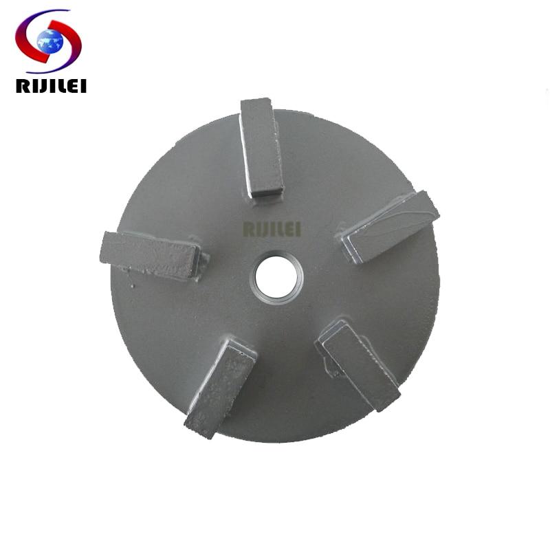 RIJILEI 12 PCS Disco de molienda de disco de molienda de disco de molienda de concreto para superficies irregulares de metal Zapatos de rectificado de diamante U70