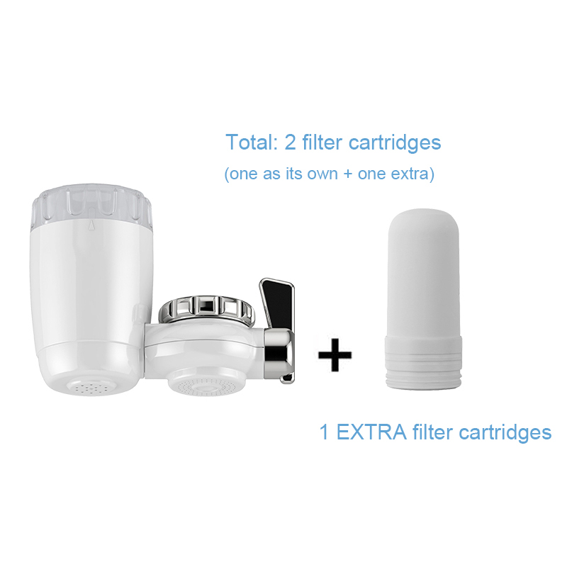 Household Tap Water Purifier with 1 EXTRA Replaceable Filter Cartridge Kitchen Water Filter fit for 99% Faucet filtros de aguaHousehold Tap Water Purifier with 1 EXTRA Replaceable Filter Cartridge Kitchen Water Filter fit for 99% Faucet filtros de agua