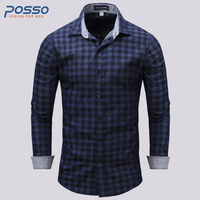 U.S Size Cotton Shirt Quality Brand Men Shirt Long Sleeve Slim Fit Camisa Casual Male Shirts Fashion Brand Men Clothes
