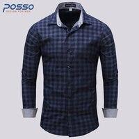 U S Size Cotton Shirt Quality Brand Men Shirt Long Sleeve Slim Fit Camisa Casual Male