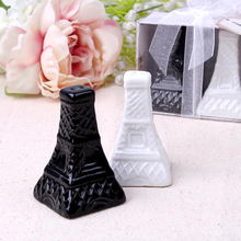 Fast Delivery Baby Shower Favors Eiffel Tower Design Ceramic Salt & Pepper Shakers Souvenirs Wedding Favour wholesale