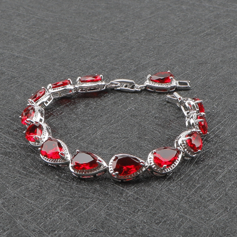Silver 925 Costume Jewelry Sets For Women Bracelet/Earrings/Pendant/Necklace/Rings Set With Red Stones ... & Silver 925 Costume Jewelry Sets For Women Bracelet/Earrings/Pendant ...