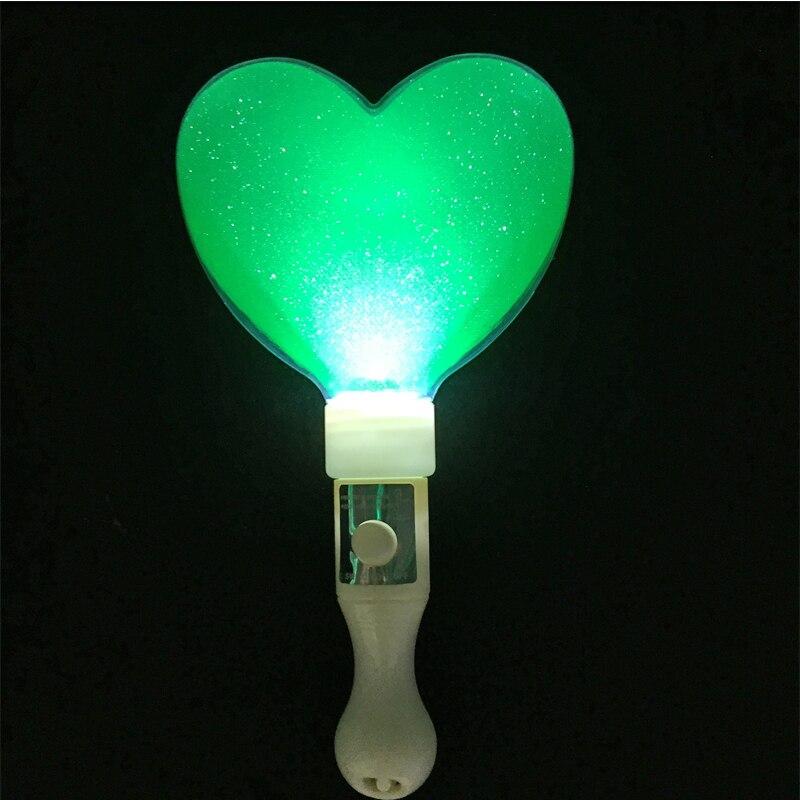10pcs / lot 21cm LED oblik srca užaren svjetlo stick u mraku koncert - Za blagdane i zabave - Foto 2