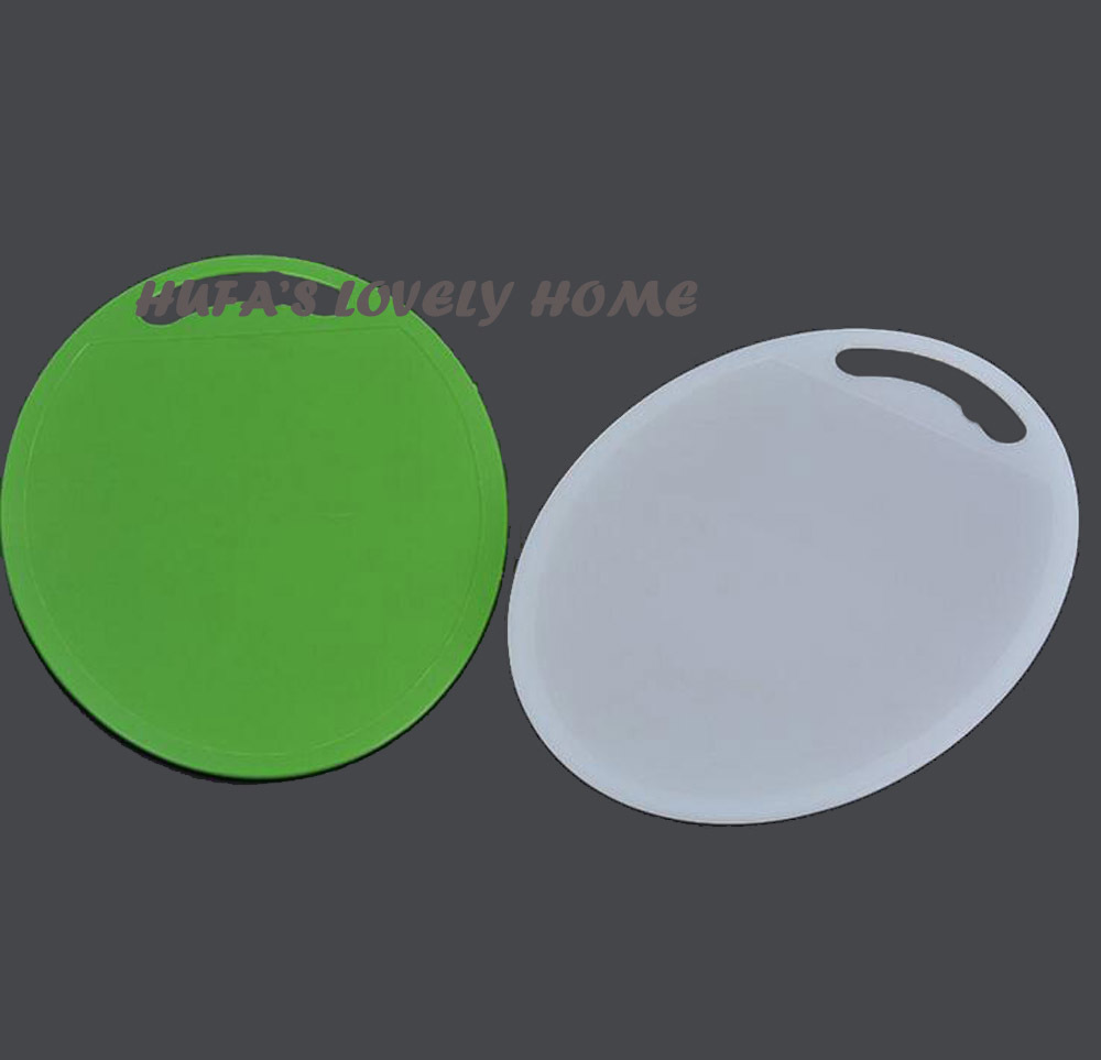 High-quality Kitchen Creative Can Hang Antibacterial Anti-mildew Round Plastic Cutting Board Environmental Anti-skid