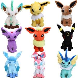 30cm Eevee Jolteon Umbreon Flareon Espeon Vaporeon Soft Stuffed Animal Dolls Pocket Plush Toys Digimon World Plushie Toys(China)