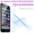 ¡ CALIENTE! 0.3mm premium vidrio templado para el iphone 4 4s 5 5s 5c se 6 6 s Plus 9 H Duro Protector de Pantalla 2.5D Arco Edge con CleanTools