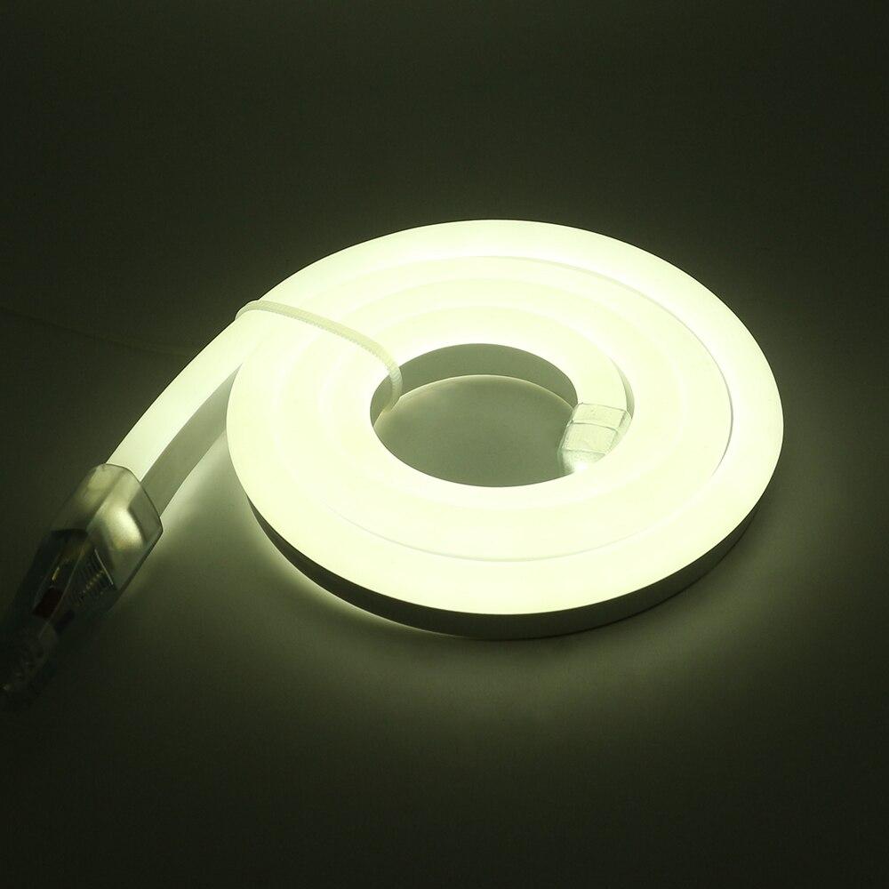 Л/ч, 15 м, 20m25m водонепроницаемый AC220V светодиодный неоновый свет 2835 гибкий + Мощность штепсельной вилки напольная декоративная полоска - 6