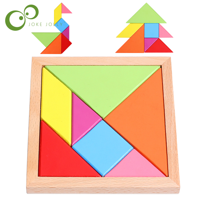 Kids Children Wooden Educational 7 Pieces Geometric