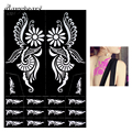 1 Piece Large Indian Henna Tattoo Stencil Airbrush Painting Flower for Women Back Art Henna Tattoo Stencil Sexy DIY Product S320