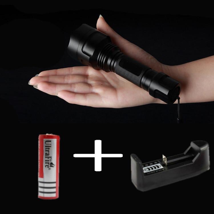CREE XML T6 led flashlight 2000 lumens lanterna self defense flashlights light torch bike lights camping equipment C8 HW510
