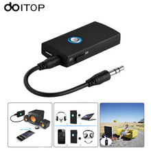 DOITOP Bluetooth Wireless Transmitter Hands-free Receiver Stereo Audio Music Adapter 3.5mm Audio Cable for TV Headphone Speaker