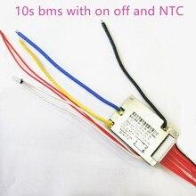 10 s bms 36 v e batterie de vélo bms avec interrupteur marche arrêt tension de charge NTC 42 v 15a bms pcm
