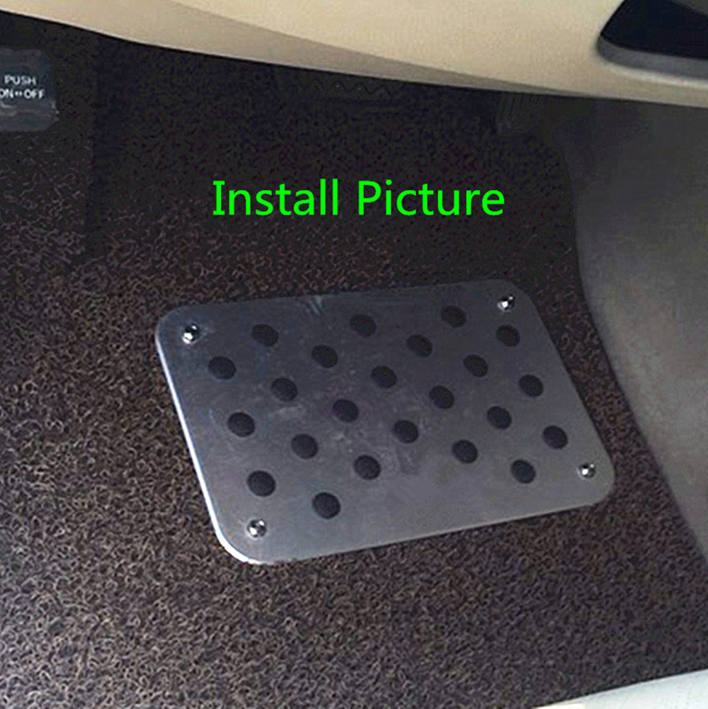 Universal Aluminium Antiskid Foot Floor Carpet Mats Pads Pedal With Bolts Set For All BMW IIIM 3 5 7 X M Series Foot Pedal Plate in Floor Mats from Automobiles Motorcycles