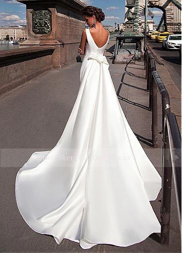 Charming-Satin-Bateau-Neckline-Mermaid-Wedding-Dresses-With-Detachable-Train-Custom-Made-Bridal-Gowns-Cheap (3)