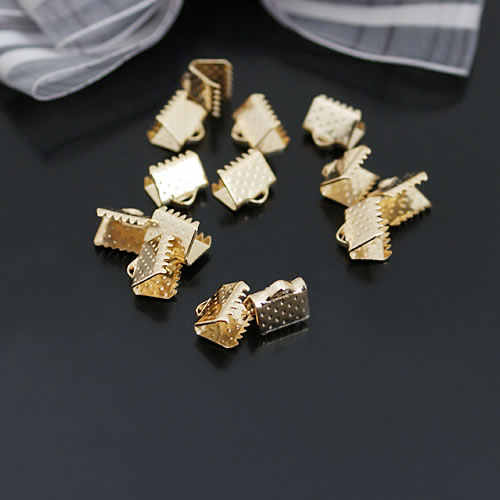100 Uds 6MM a 35MM extremos de hierro cierres cordón o cinta cierre de conexión Diy accesorios de joyería al por mayor