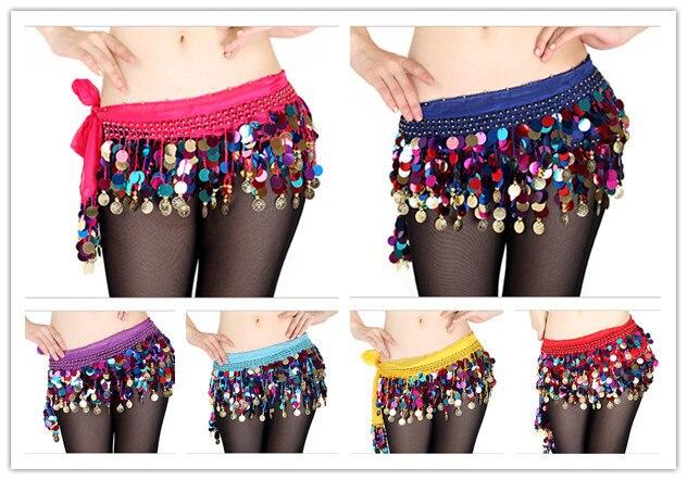 Belly Dance Clothes Indian Dance Belt Bellydance Waist Chain Women Hip Scarf Women Girl Dance 8 Colors