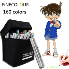 Finecolor 160 Colores Doble Dirigió el Boceto Alcohol Rotulador 24 36 48 60 72 Unid/set Animación set Pintura Boceto Copic Marcador de Arte