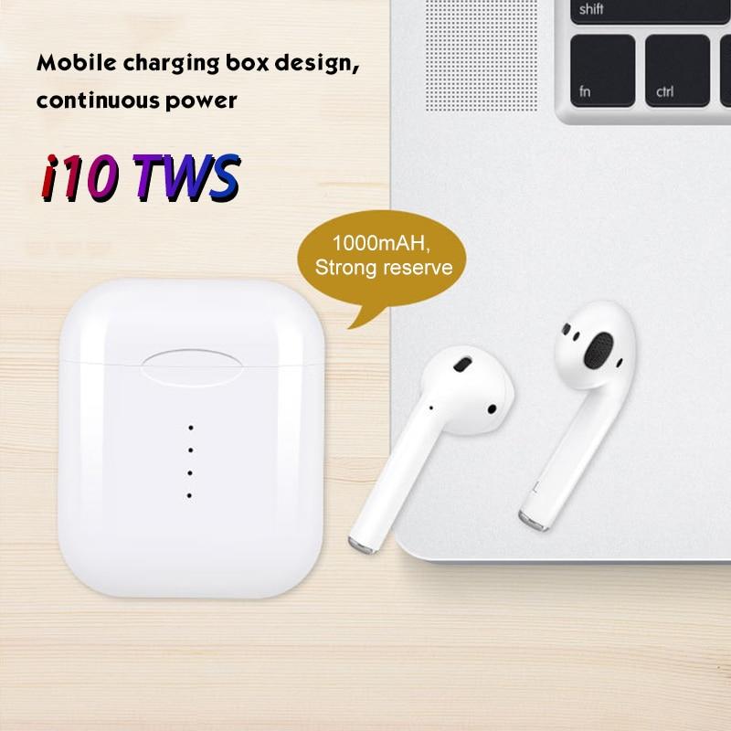 I10 tws Meilleur écouteur Sans Fil tactile oreillettes bluetooth 5.0 casque assistance sportive sans fil de charge avec Micro pour tous les smartphone