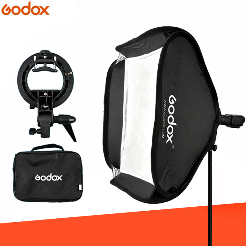 Godox 40x40 40 40cm Flash Softbox Kit con S Type Staffa Bowen Mount Holder Per La