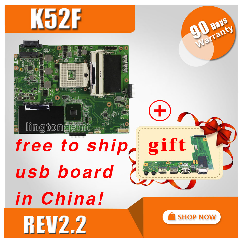 for ASUS K52F A52F x52f series laptop motherboard HM55-chipset Integrated system