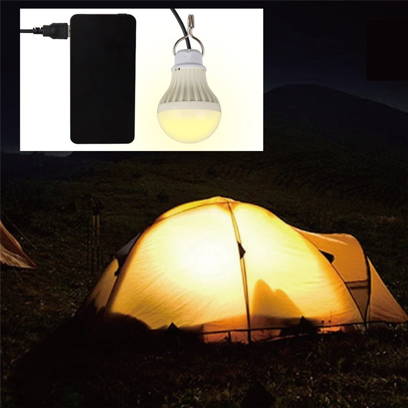Portable LED Light Bulb 5W DC 5V USB Outdoor LED Light for Camping Tent Bombillas Led Emergency Lamp Night Fishing Bulb Ampoule lumiparty 2017 usb led ball bulb home emergency led lamp 5v dc portable led night reading light outdoor led usb bulb