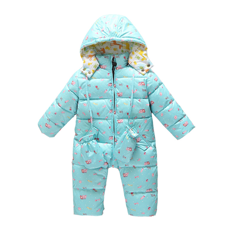 90% White Duck Down Baby Winter Rompers Infant Boy Girl Body Thicken Jumpsuits Outfits Wears For Winter Baby Snowsuits Clothing winter baby boy girl white duck down jackets shoes set toddler tracksuit infant kids rompers baby clothing sets for christmas