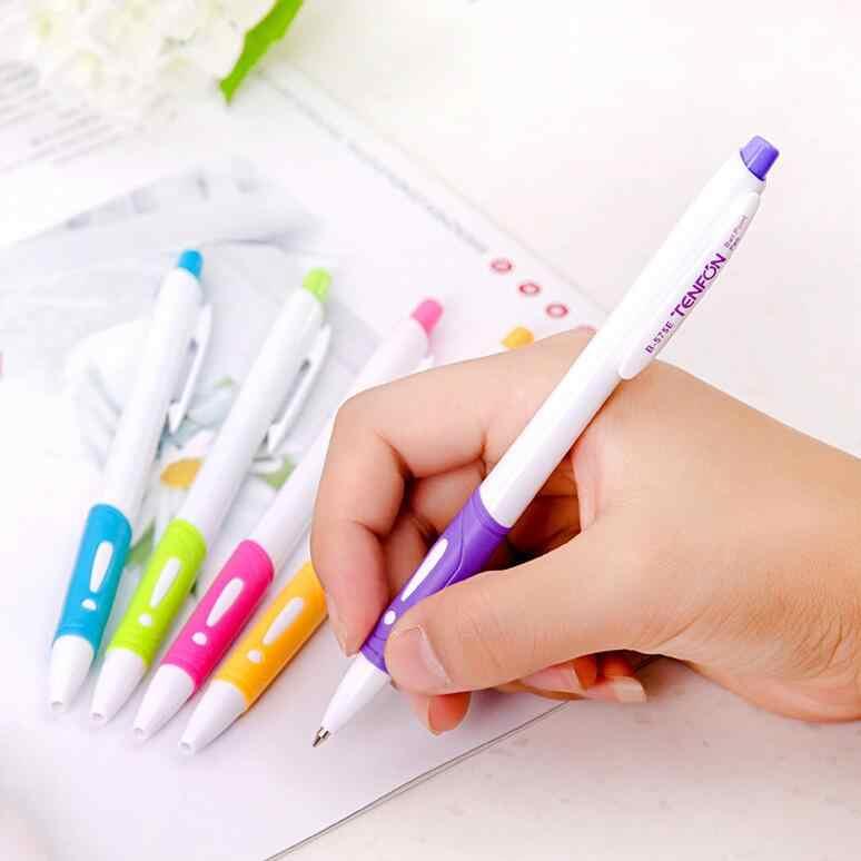 חמוד צבעים בוהקים כדורי עטים מותג באיכות עיתונות כדור עטי כתיבה ספר משרד מכתבים קידום מכירות פריטים