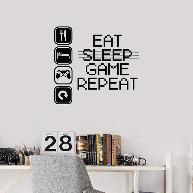 Gaming Vinyl Wall Decal Bedroom Stickers Removable….Create the Ultimate Gamers room……