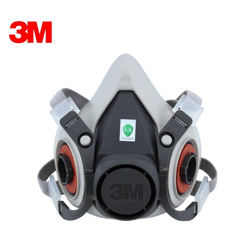 3M 6100 Mask Respirator Reusable Half Face Mask Respirator Economical Low-maintenance Simple Handle Extremely Lightweight LT077