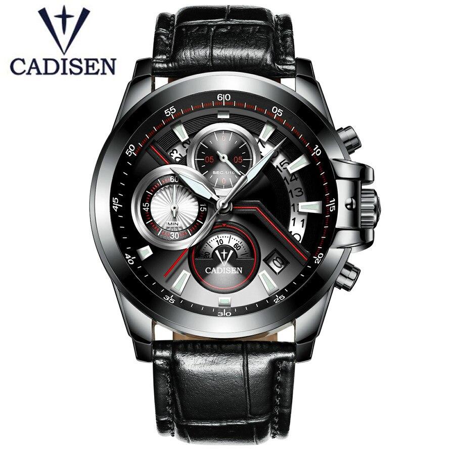 bfbe88a4fe8d Comprar Reloj de pulsera militar para hombre con correa de cuero de marca  de lujo de cadenete 2018 Online Baratos.