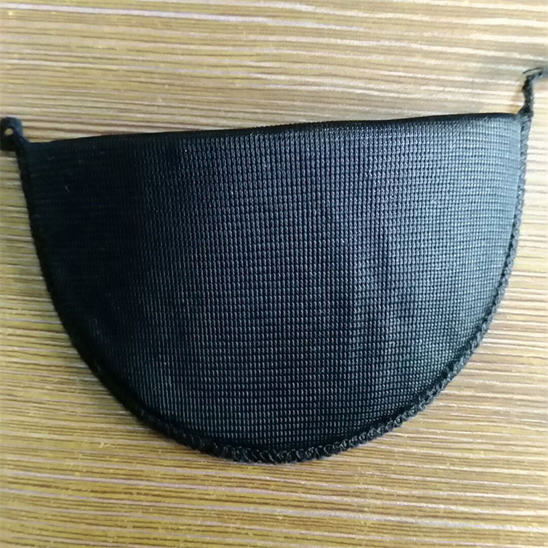 Custom 11*6*0.6cm Black Shoulder Pads with fabric full sides