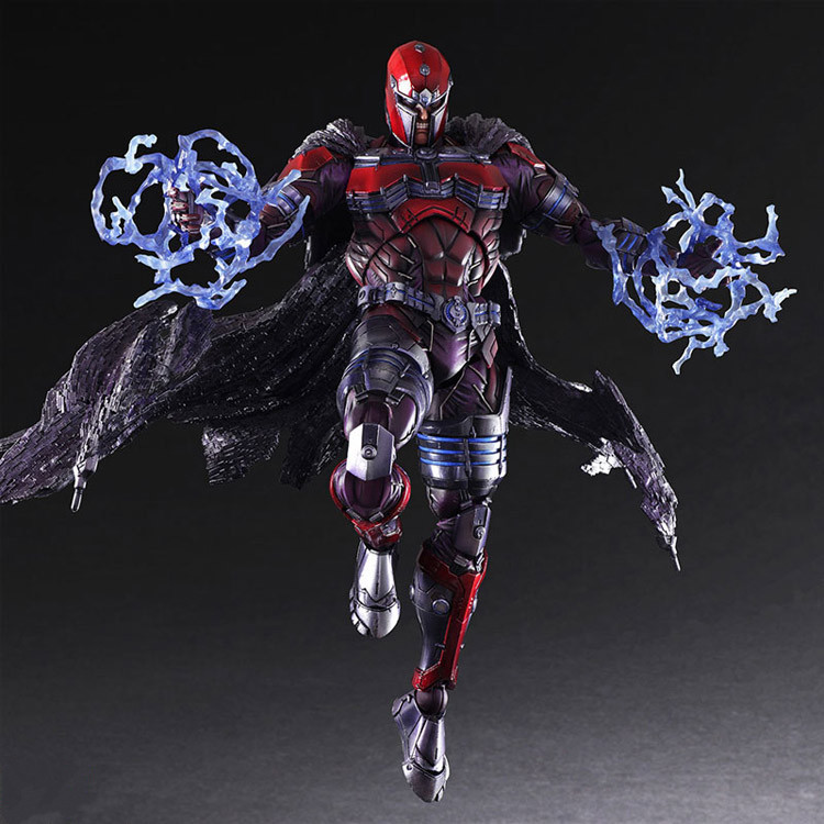 PLAY ARTS 27cm Marvel X-men Magneto Max Eisenhardt Action Figure Model Toys mr froger x men x men action figures apocalypse chibi anime figurine pop toys for children cute doll professor x magneto models