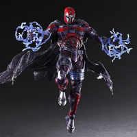 PLAY ARTS 27cm Marvel X-men Magneto Max Eisenhardt PVC Action Figure Model Toys