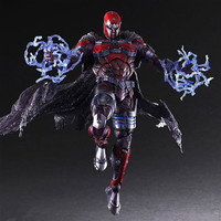 PLAY ARTS 27cm Marvel X men Magneto Max Eisenhardt Action Figure Model Toys