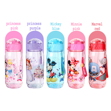 450ml Minnie/Mickey Mouse Kid Drinking Bottle Feeding Straw Children Cup Baby Bottles Water