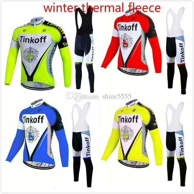 Tinkoff 2017 Pro Team Thermal fleece Cycling Jersey Winter Ropa Ciclismo Long Sleeve Bike Clothing MTB bicicleta Sportswear tasdan winter thermal fleece cycling jersey long sleeve mountain bike ropa ciclismo bicycle mtb bicicleta clothing gel pad