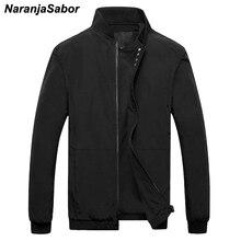 NaranjaSabor 2019 для мужчин's повседневные куртки демисезонный Новый Slim Fit пилот полета мужчин пальто для будущих мам мужской бомбер куртк
