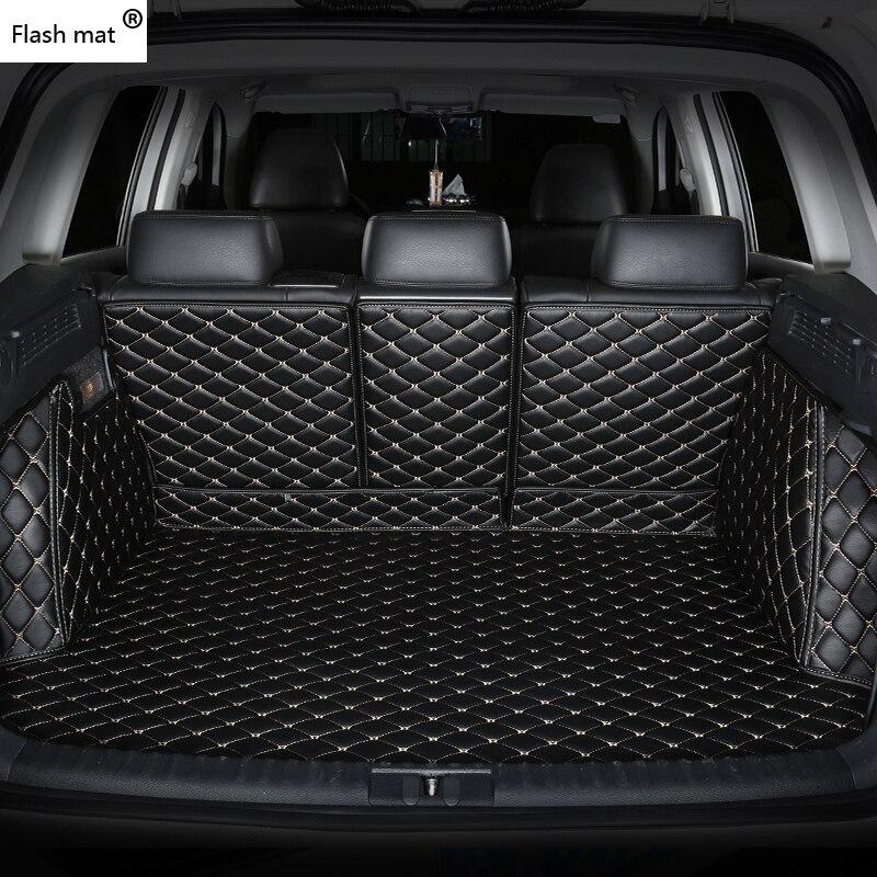 Flash de couro tapete Mala Do Carro Esteiras para Lincoln todos os modelos Navigator MKZ MKT MKX MKS MKC acessórios do carro de carga personalizado forro
