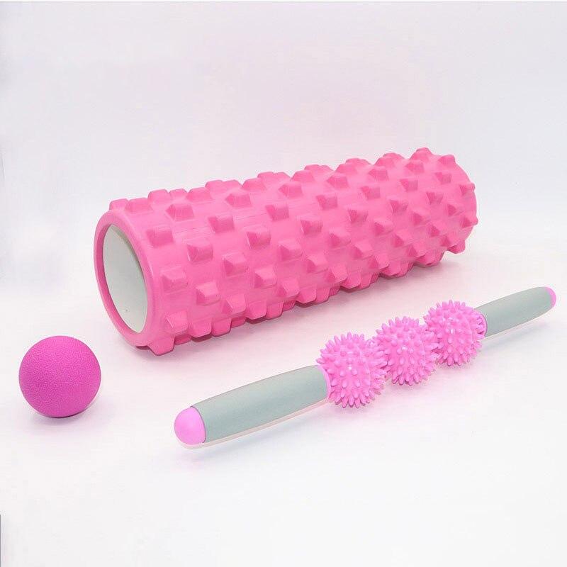 1 ensemble bolster de Yoga Fitness Mousse De Yoga Pilates Blocs De Yoga Gym blocs roulants Massage Grille Trigger Cercles Relaxation de Thérapie