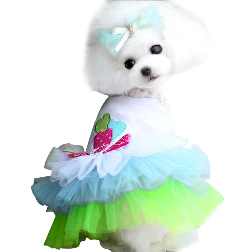 US Small Pet Puppy Dog Cat Lace Skirt Princess Tutu Dress Summer Clothes Apparel