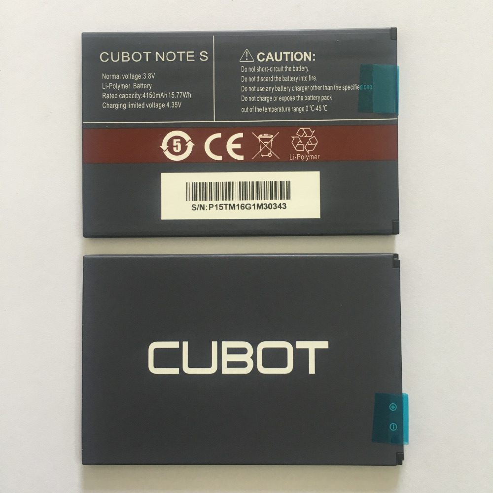 CUBOT Note S Battery 4150mAh 100 New Original Replacement backup battery For CUBOT Note S Cell