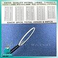 98 stks/doos 1.25mm thinckness Horloge Crystal Glas I Ring Pakking Vervanging onderdelen voor Horlogemaker
