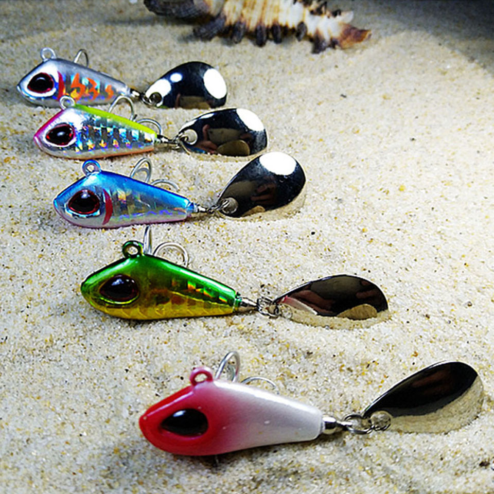 WALK FISH 1PCS 20mm-35mm Metal Mini VIB Fishing Lure 6g-25g Winter Ice Fishing Tackle Pin Crankbait Vibration Spinner