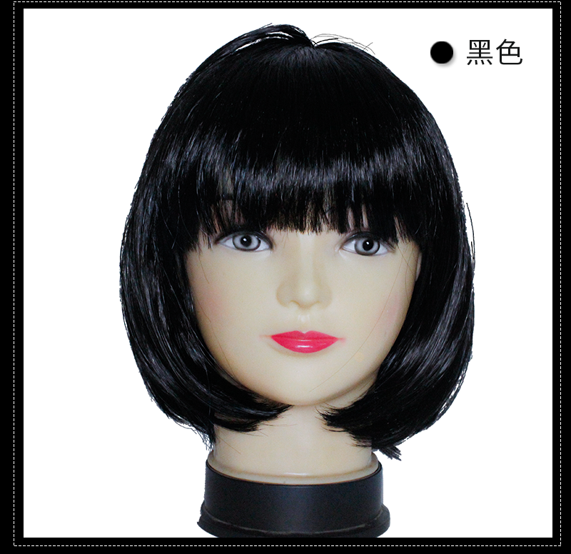 Color Wig Fashion New Women Lady Short Straight headwear Full Wigs Cosplay Party Bob Hair Wig Candy Sweets Cosplay Party Costume