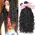 Onda de Água malaio 4 Feixes de Cabelo Virgem Malaio Encaracolado Molhado e cabelo humano ondulado gem beauty supply oceano onda 1b cabelo virgem