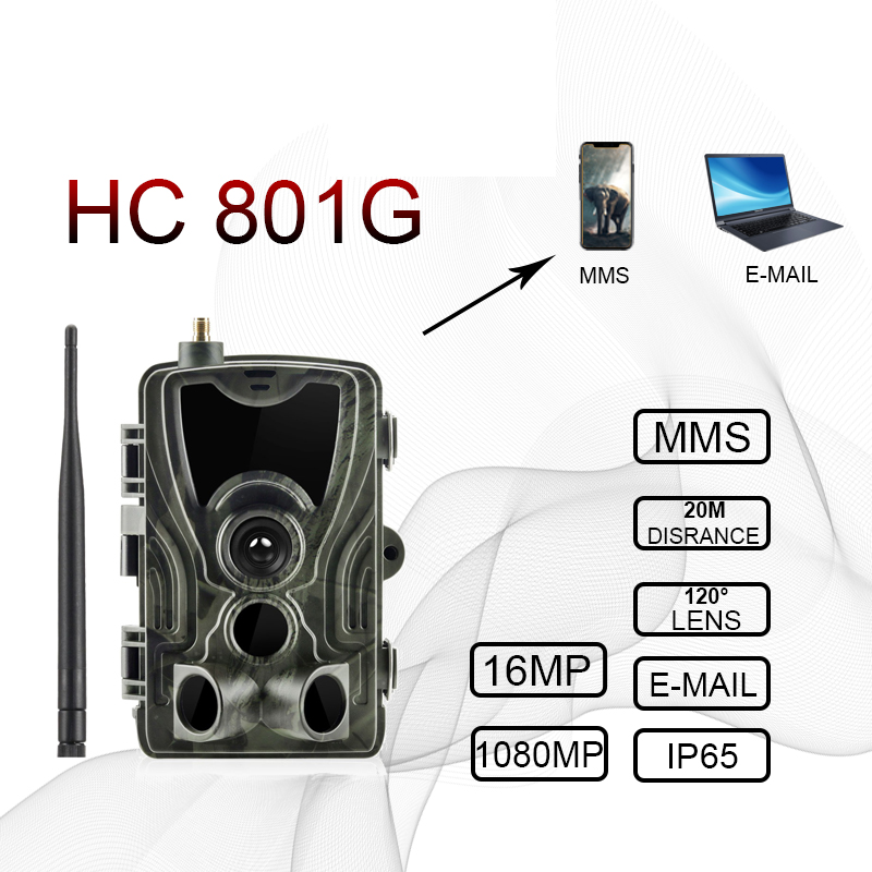 HC 801G 3G Hunting Camera 16MP Trail Camera SMS MMS IP66 Photo Traps 0.3s Trigger Time 940nm LEDs hunter Wild Camera hunt