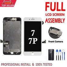 مجموعة كاملة شاشة LCD آيفون 7 Plus 7 P شاشة LCD ثلاثية الأبعاد قوة شاشة تعمل باللمس الجمعية كاملة استبدال الكاميرا الأمامية الأذن المتكلم