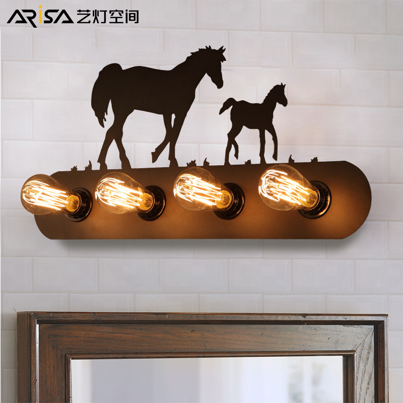 цены Nordic novelty creative wall lamps aisle bedroom bedside wall sconces balcony hotel LED background industrial wind Wall lights