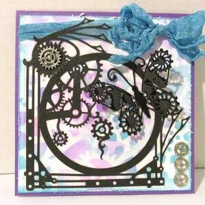 Image 2 - Металлические Вырубные штампы в стиле стимпанк Скрапбукинг на колесиках фон высечка для рукоделия бумажная карточка